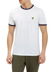 Lyle And Scott Ringer T Shirt White