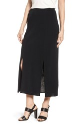 Ming Wang 'S Double Slit Maxi Skirt Black