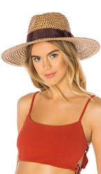 Brixton Joanna Hat In Tan. Brown And Cream