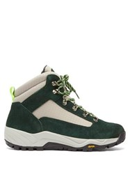 Diemme Cortina Canvas And Suede Hiking Boots Green