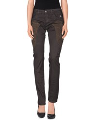 Dog Fox Trousers Casual Trousers Women Dark Brown