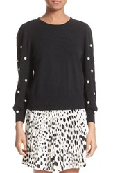 Marc Jacobs Women's Imitation Pearl Embellished Wool And Cashmere Sweater