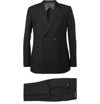 Kilgour Black Mohair And Wool Blend Tuxedo