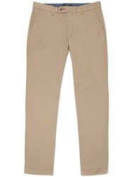 Ted Baker Sorcor Slim Fit Cotton Chinos Natural