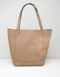 Warehouse Stud Detail Shopper Tan