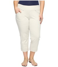 Jag Jeans Plus Size Marion Crop In Bay Twill Stone Women's Casual Pants White