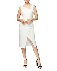 Betsey Johnson Asymmetric Crossover Dress Ivory