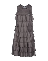 Brebis Noir Dresses Knee Length Dresses Women Grey
