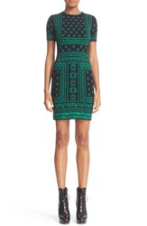 Alexander Mcqueen Women's Jacquard Knit Sheath Dress