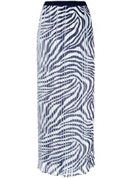 Michael Michael Kors Pleated Maxi Skirt White