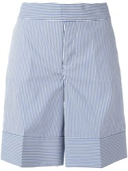 Dsquared2 Pinstripe Wide Shorts Blue