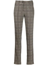 Cambio Slim Fit Tailored Trousers Neutrals