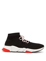 Balenciaga Speed Lace Up Sock Trainers Black