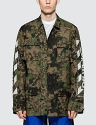 Off White Diag Camo Field Jacket