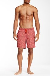 Mr. Swim Paisley Volley Trunk Red