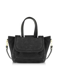 L'autre Chose Suede Medium Tote Bag Black