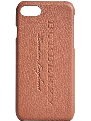 Burberry London Leather Iphone 7 Case Brown