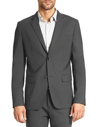 Theory Wellar Stretch Wool Blazer Charcoal