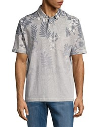 Tommy Bahama Floral Fade Polo Grey Heather