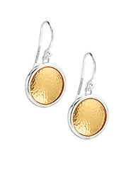Gurhan 24K Gold Vermeil Earrings Silver