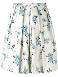 Eggs Floral Print Skirt Women Cotton Polyester Acetate Viscose 40 Nude Neutrals