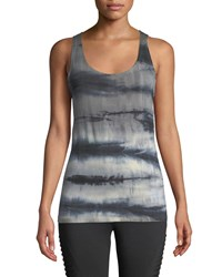The Balance Collection Lorene Tie Dye Knot Back Muscle Tee Black
