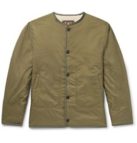 The Workers Club Reversible Faux Shearling And Shell Jacket Green
