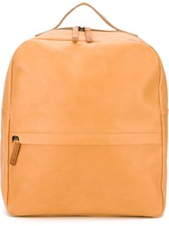Ally Capellino 'Tapies Los Artistas' Square Backpack Brown