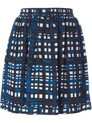 Thakoon Addition Plaid Mini Skirt Blue
