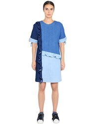 Steve J And Yoni P Cotton Denim Patchwork Dress