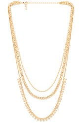 8 Other Reasons Petra Lariat Necklace Metallic Gold