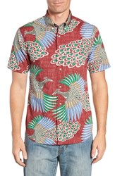 Reyn Spooner Osaka Dream Regular Fit Sport Shirt Crimson