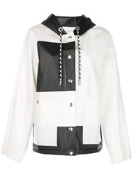 Proenza Schouler Colour Block Short Raincoat White