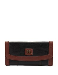 The Sak Iris Leather Flap Wallet Black Onyx