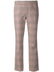 Thakoon Plaid Trousers Grey