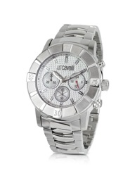 Just Cavalli Crystal Case Chrono Watch Silver