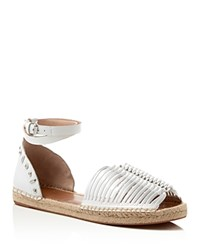 French Connection Usha Ankle Strap Espadrille Sandals Summer White
