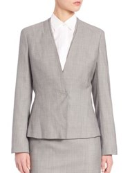 Boss Jasana Wool Blazer Grey Fantasy