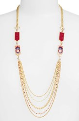 Rebecca Minkoff Women's Catalina Seed Bead Multi Strand Necklace
