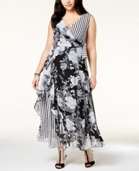 Inc International Concepts I.N.C. Plus Size Mixed Print Maxi Dress Created For Macy's Delicious Rose