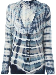 Raquel Allegra Shred Back Tie Dye Cardigan Blue