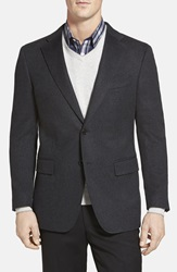 Cardinal Of Canada Classic Fit Cashmere Blazer Charcoal
