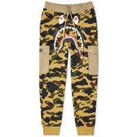 A Bathing Ape 1St Camo Shark Cargo Sweat Pant Yellow
