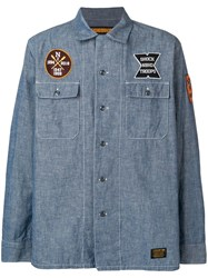 Neighborhood Patch Denim Shirt Blue
