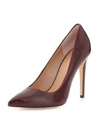 Halston Shirley Pointed Toe Patent Leather Pump Burgundy