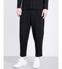 Homme Plisse Issey Miyake Pleated Mid Rise Woven Trousers Black