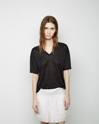 Isabel Marant Marcy Linen Tee Anthracite