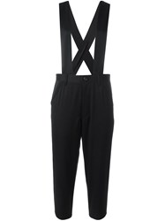Comme Des Garcons Girl Suspenders Cropped Trousers Black