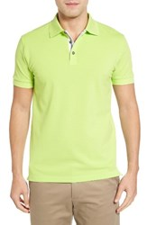 Bobby Jones Men's Solid Pique Golf Polo Mint Julep