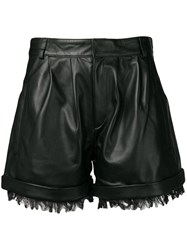 Federica Tosi Frayed Shorts Black